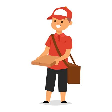 post man: Courier delivery boy character vector courier occupation carrier