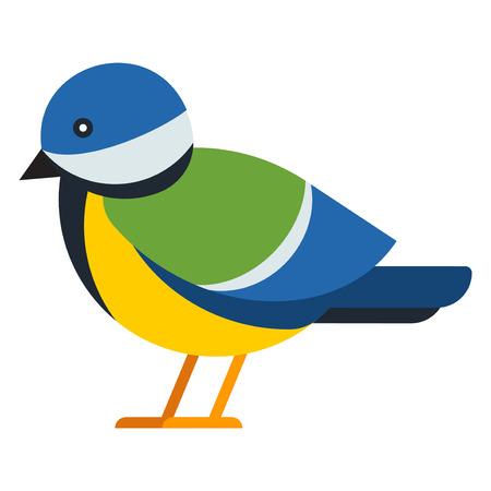 goudvink Cartoon en winter vogelillustratie geïsoleerd Vector Illustratie