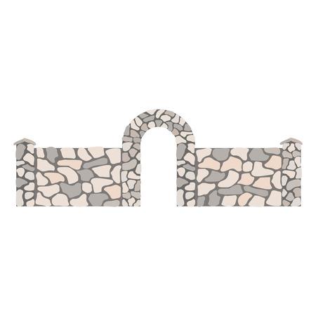 Fence and gates isolated on white background