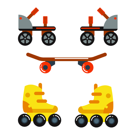 Roller skate boot icon silhouette shoe wheel design vector illustration. Sport roll activity graphic retro kid leisure. Extreme young rollerskate relaxation vintage equipment. Illustration