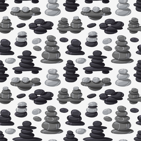 pebbly: Relax stone seamless pattern vector. Illustration