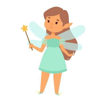 Fairies cartoon character vector. Illustration