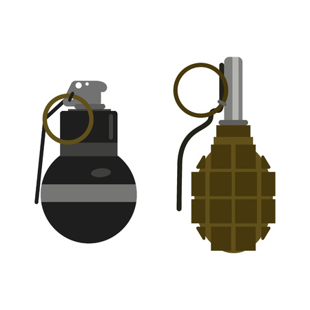 shrapnel: Grenade bomb vector.
