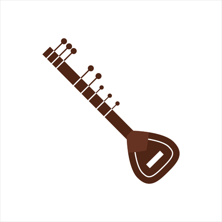 flute: Vector Illustration indian musical instrument.