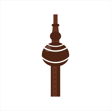 woodwind: Tribal wooden flute pipe vector. Illustration