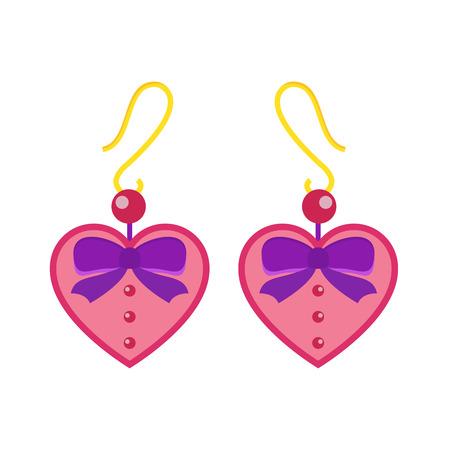 accessory: Earrings beautiful accessory isolated vector.