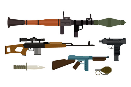weapons: Weapons vector collection.