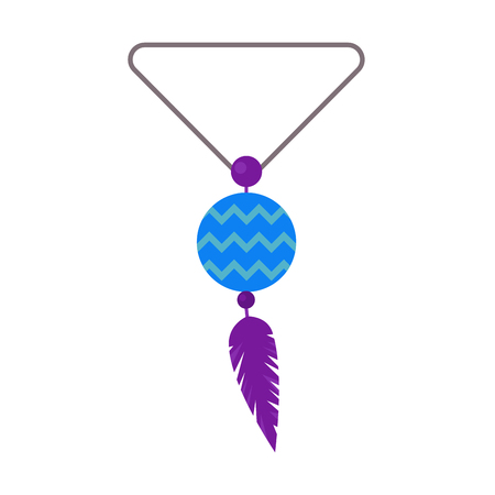 pearl necklace: Pearl necklace decoration vector.