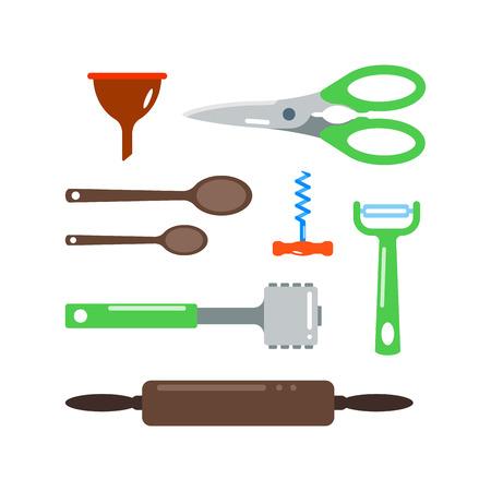 Kitchenware vector icons. Illustration