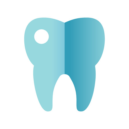 Tooth icon vector. Illustration