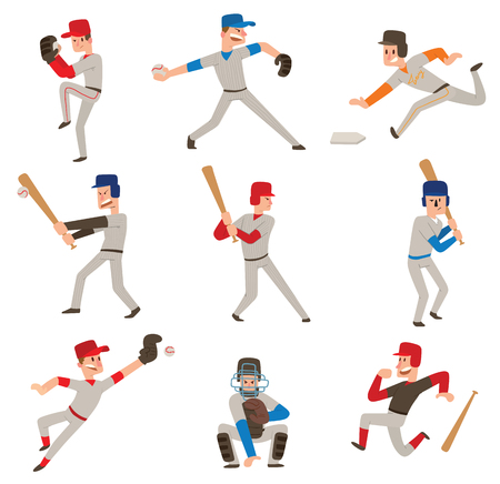 Baseball player vector icon.