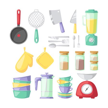 Küchenartikel Vektor-Icons. Standard-Bild - 68794389