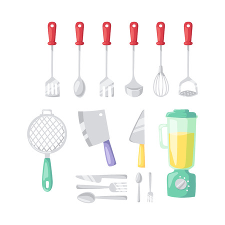 grater: Kitchenware vector icons. Illustration