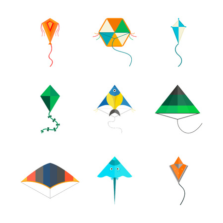 Kite icon vector. Illustration