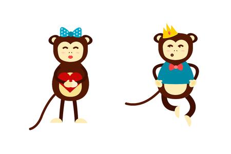 Monkey vector illustration.