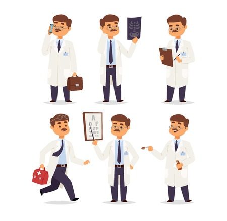 Doctor character vector isolated