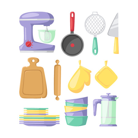 Kitchenware vector icons. Illustration