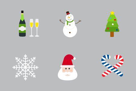 christmas cookie: Christmas holiday icons vector set.