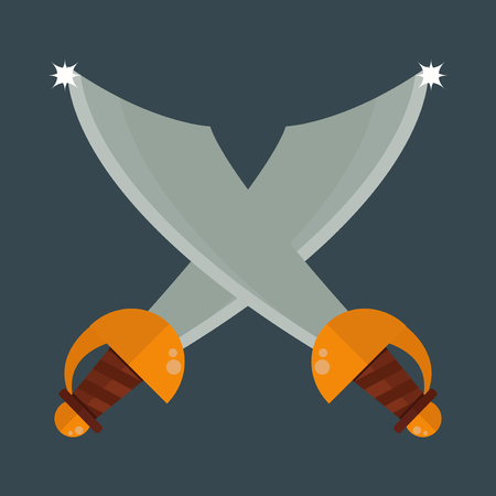 throwing knife: Knife weapon vector illustration.