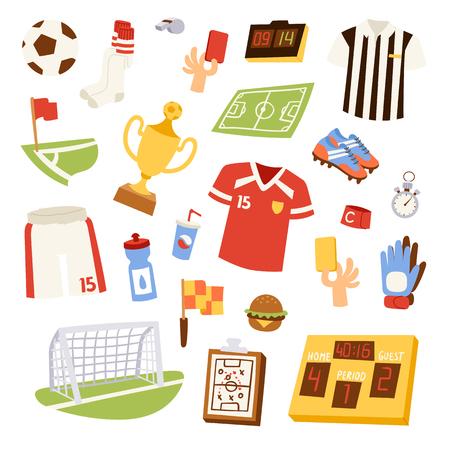 Euro soccer vector illustration.