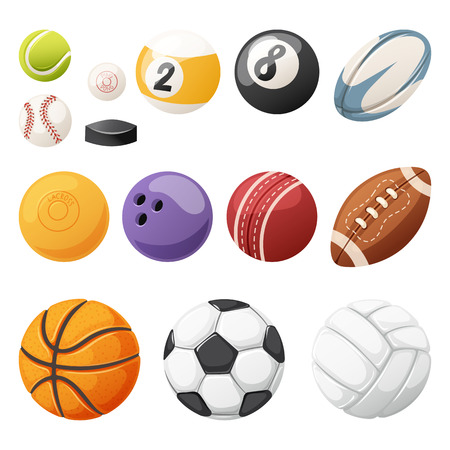 Set of balls isolated vector.