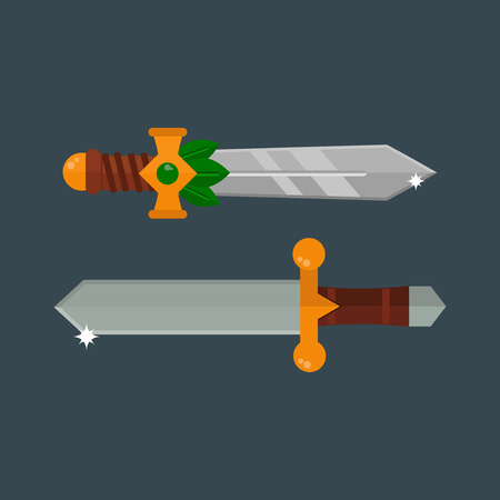 throwing knife: Knifes weapon vector illustration.