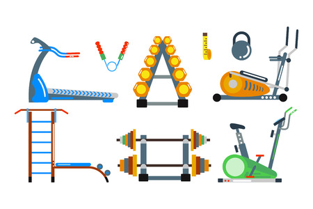 fitball: Fitness gym club vector icons. Illustration