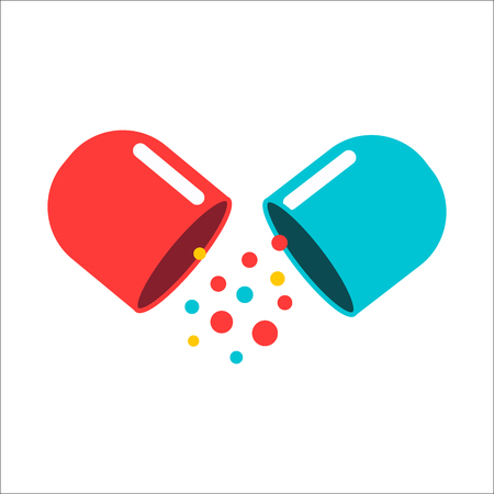 group therapy: Tablet pill vector illustration.