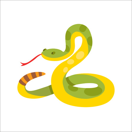Snake reptile cartoon vector