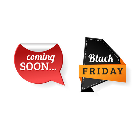 Sale badge stickers percent discount black friday symbols vector illustration. Banco de Imagens - 128168224