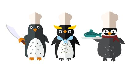 Penguin vector animal character illustration. Stock Photo