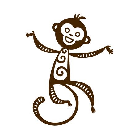primates: Monkey vector illustration.