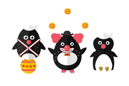 Penguin vector animal character illustration. Stock Photo