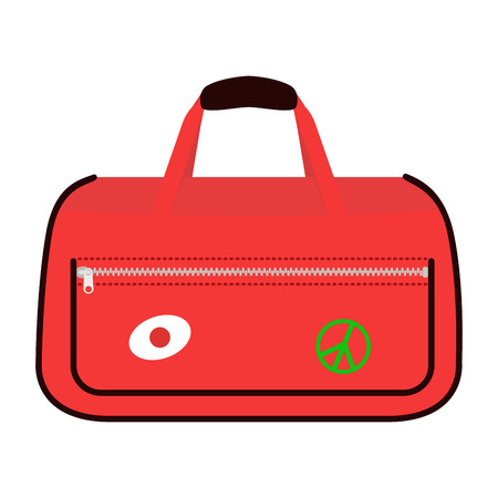 suitcase packing: Journey suitcase travel bag vector. Illustration