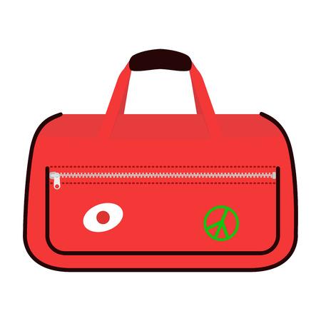 travel bag: Journey suitcase travel bag vector. Illustration