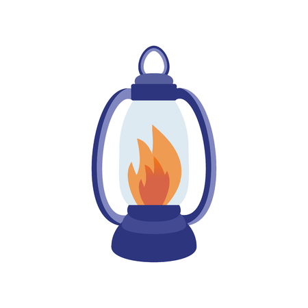 Fire torch victory champion flame icon vector illustration. Illustration