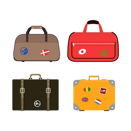 Reis koffers reistas vector.