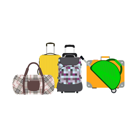 Journey suitcase travel bag vector. Illustration