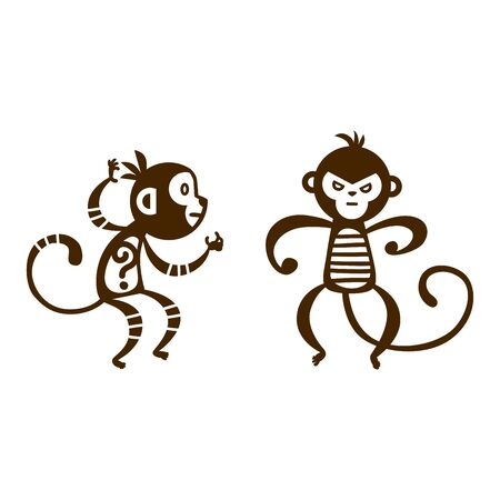 chinese new year card: Monkey vector illustration.