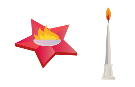 torch: Fire torch victory champion flame icon vector illustration. Illustration
