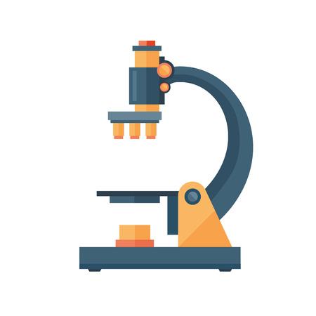 Mikroskop Wissenschaft Raum Entdeckung Instrument Vektor-Illustration. Universum Glasvergrößerung Ausrüstung. Forschungsausrüstung-Beobachtungsmedizin-Laborblick. Standard-Bild - 72264852