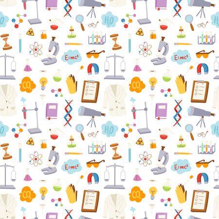 Science seamless pattern vector illustration. Illustration