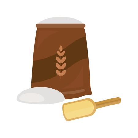 小麦粉ベクトル焼きたてのパン製品アイコン分離ベーカリー小麦パン ライ麦生地粒おやつ朝食おいしいバゲット穀物栄養有機