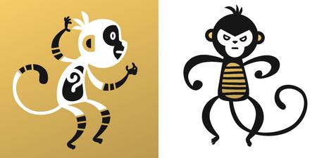 japanese ethnicity: monkey vector illustration chinese style Illustration