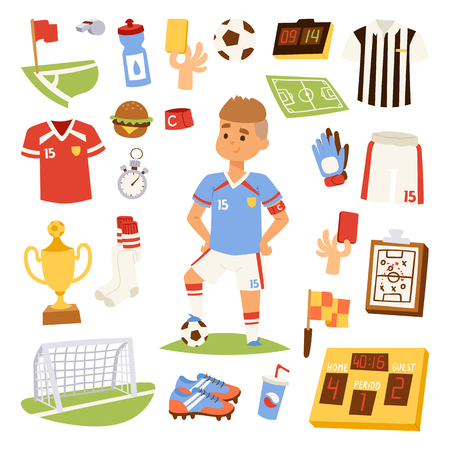 Soccer player man icons vector illustration isolated on white