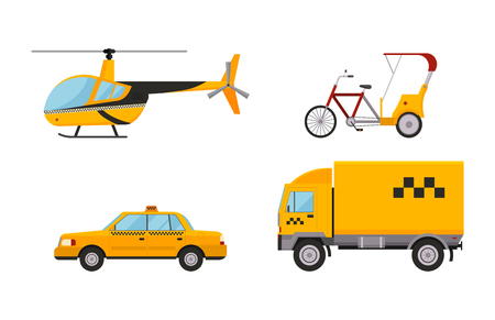 Taxi cab isolated vector illustration Illustration