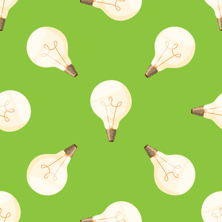 Cartoon lamps light bulb seamless pattern background design vector illustration electric icon object brainstorm symbol sign solution energy Ilustrace