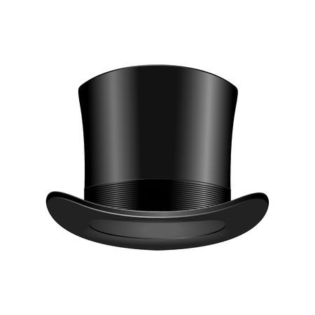 Gentleman fashion hat élégance moderne chapeau noir élément haut classique vêtements vector illustration. Vecteurs