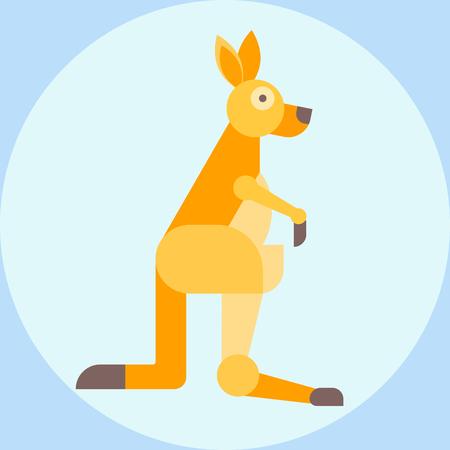Red kangaroo australia animal wallaby aussie wilderness and australian mammal marsupial wildlife nature character vector illustration.