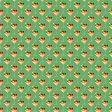 ice cream seamless pattern background fruit vector illustration